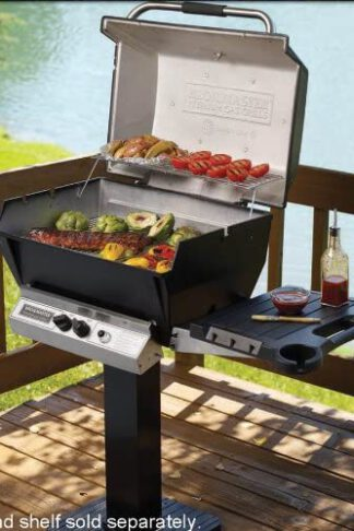 Broilmaster H4XN Deluxe Gas Grill with Stainless Steel Grids Liquid Natural Gas