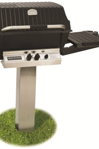 Broilmaster P3 Grill Package 6 with Stainless In-Ground Post