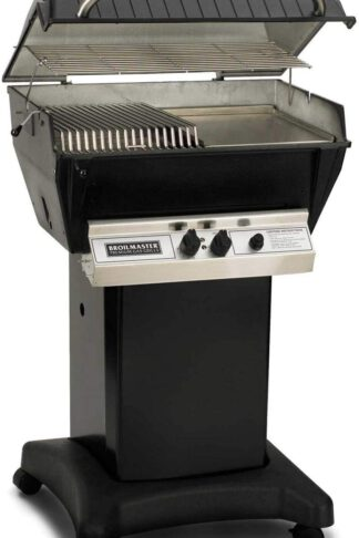 Broilmaster P3-SX Super Premium Propane Gas Grill On Black Cart