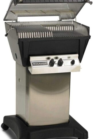 Broilmaster P4-XFN Premium Natural Gas Grill On Stainless Steel Cart