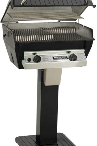 Broilmaster R3 Infrared Propane Gas Grill On Black Patio Post