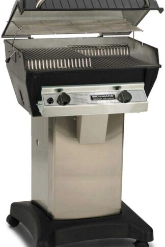 Broilmaster R3N Infrared Natural Gas Grill On Stainless Steel Cart