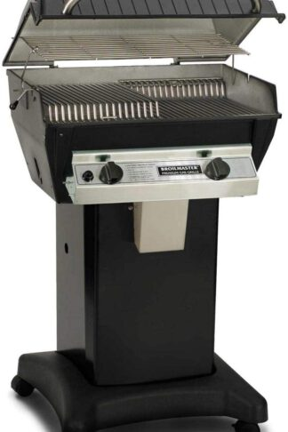 Broilmaster R3b Infrared Combination Propane Gas Grill On Black Cart