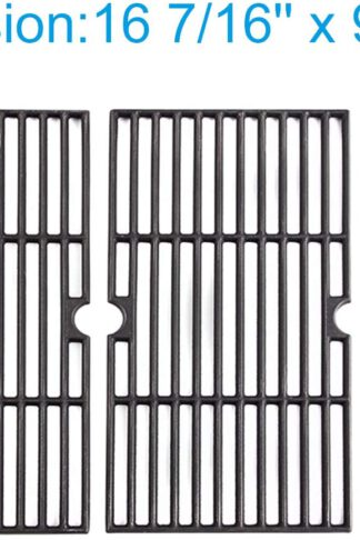 Cast Iron Cooking Grates for Kenmore 146.16132110, 146.16133110, 146.1613211, 146.23678310, 146.23679310, 640-05057371-6, Gas Grill Models, Set of 3, Includes 1-Pack Stainless Steel Grill Cleaner