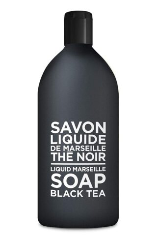 Compagnie de Provence Savon de Marseille Extra Pure Liquid Soap - Black Tea - 33.8 fl oz Plastic Bottle Refill