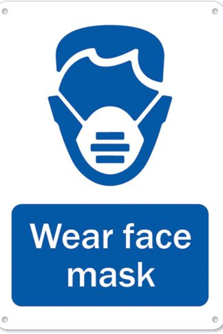 Coronavirus (COVID-19) - Wear Face Mask | Plastic Sign | Protect Your Business, Municipality, Home & Colleagues | Made in The USA by SignMission
