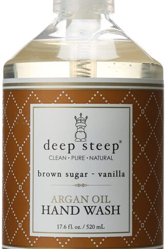 Deep Steep Argan Oil Liquid Hand Wash, Brown Sugar Vanilla, 17.6 Fluid Ounce