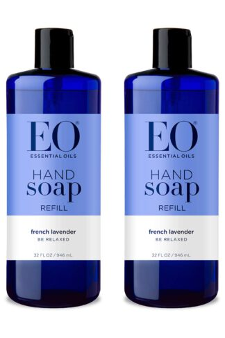 EO Hand Soap French Lavender, 32 Ounce Refill, 2 Count