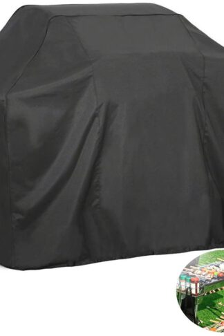 FLR BBQ Grill Cover, 74 Inch Black Waterproof Dust-Proof Grill Cover Fading Resistant BBQ Grill Covers for Holland Weber, Brinkmann, Jenn Air, and Char Broil