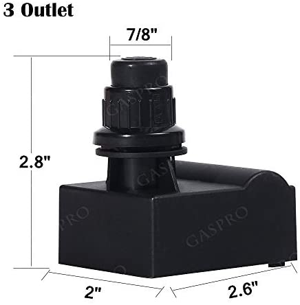 GASPRO Durable Grill Igniter 3 Outlet Replacement for Charbroil, Char-Griller, Broil King, Ducane, Kenmore Grills, Easy to Install