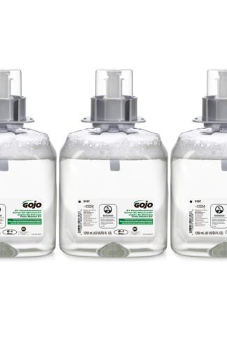 GOJO E1 Foam Handwash, Fragrance Free, 1250 mL Handwash Refill for GOJO FMX-12 Push-Style Hand Soap Dispenser (Pack of 3) - 5167-03