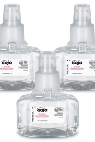GOJO LTX-7 Clear and Mild EcoLogo Certified Foam Handwash, Fragrance Free, 700 mL Handwash Refill for LTX-7 Touch-Free Dispenser (Pack of 3) - 1311-03
