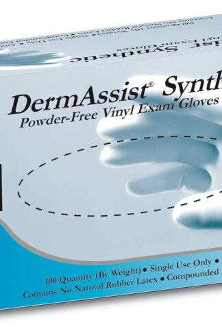 High Quality ONE Box of 100 DermAssist Vinyl Exam Gloves (Latex Free, 100/bx) Medium Size Gloves - Fast and Free Shipping by Derm