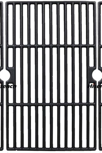 Hisencn Grill Grates Replacement for DGF510SBP, DGF510SSP, DGF510SSP-D, Uniflame GBC1059WB, GBC1059WE-C, Cast Iron Cooking Grid For Backyard Grill BY12-084-029-98 and Other Gas Grill Models, 16 1/4 in