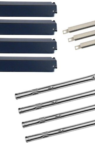 Hongso Charbroil 463247310, 463257010 Replacement KIT Burner,Crossover Tubes, Heat Shield-4pk (SBD731-PPC321-SBE592)