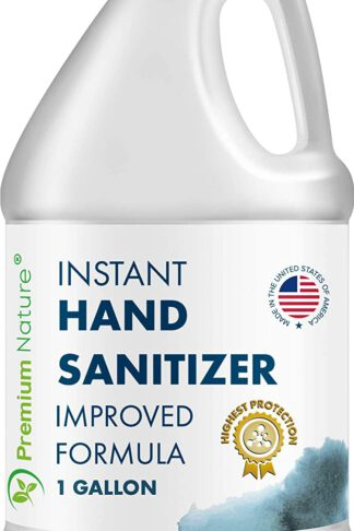 Instant Hand Sanitize Gel - Value Size Advanced Natural Hand Sanitize Cleaner Portable Aloe Vera Moisturizer Packaging May Vary (1 Gallon) by Premium Nature
