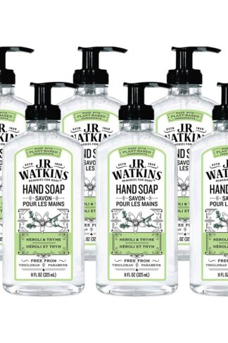 JR Watkins Gel Hand Soap, Neroli & Thyme, 6 Pack, Scented Liquid Hand Wash for Bathroom or Kitchen, USA Made and Cruelty Free, 11 fl oz
