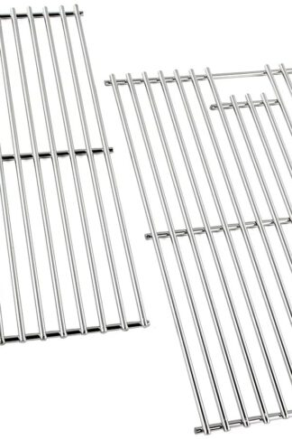 "KXT Grill Parts Cooking Grates 17 Inch for Home Depot Nexgrill 720-0830H, 720-0830D, 720-0783E, 720-0783C, Kenmore, Uniflame Gas Grils Replacement, Stainless Steel Cooking Grids, 2 Pack (17"", Silver)"