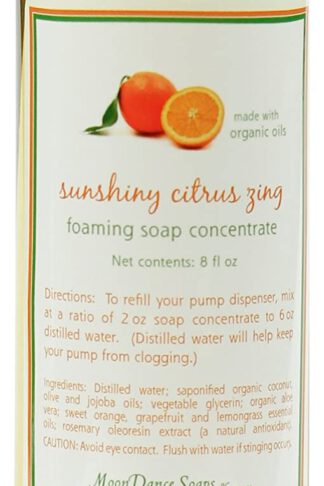 Lemongrass Foaming Hand Wash Refill by MoonDance Soaps - Fabulous Foaming Castile Soap Concentrate with Aloe Vera and Essential Oils, 8 Fl. Ounce by MoonDance Soaps & More