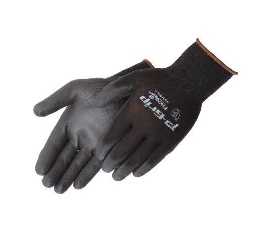 Liberty P-Grip Ultra-Thin Polyurethane Palm Coated Glove with 13-Gauge Nylon/Polyester Shell, Large, Black (Pack of 12) by Liberty Glove & Safety