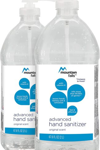Mountain Falls Advanced Hand Sanitizer with Vitamin E, Original Scent, Pump Bottle, 67.59 Fluid Ounce (Pack of 2) by Mountain Falls