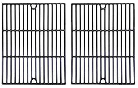 Porcelain Cast Cooking Grid Replacement for Kenmore 122.16119, Kmart, Uberhaus, Nexgrill, Uberhaus & Uniflame GBC091W, GBC940WIR, GBC956W1NG-C Gas Grill Models, Set of 2