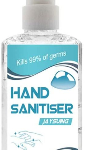 Portable Hand Sanitizer Rinse-Free Infused with Aloe Gel & Vitamin E Disposable Hand Wash Gel Cleaning Soap 60ML, Lovor Pump Bottle Effective 99.99% Skin Cleansing Hand Sanitizer Fresh Scent