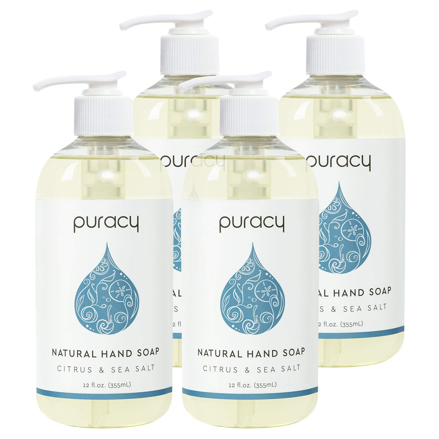 Puracy Natural Liquid Hand Soap Citrus And Sea Salt
