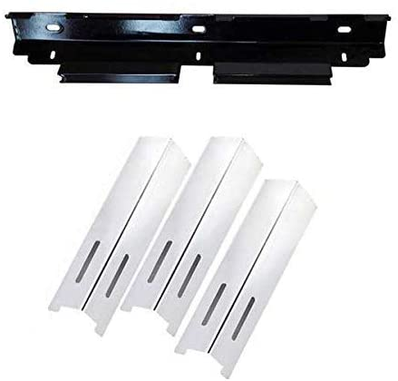 Repair Kit for BBQ grillware GSF2616, 41590 and Life@Home GSF2616J, GSF2616JB, GSF2616JBN Gas Grill Includes 3 Stainless Steel Heat Plates and 1 Burner Support Bracket