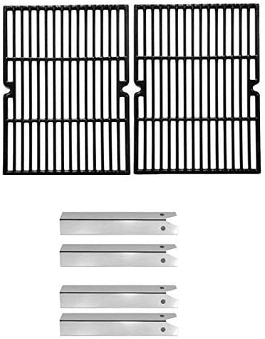 Replacement Kit for Uniflame Pinehurst GBC750W BBQ Gas Grill Includes 4 Stainless Steel Heat Plates and Cast Cooking Grids