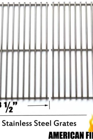 SC9812 Stainless Steel Cooking Grid/Cooking Grates Replacement for Brinkmann 810-9490-0, Grill Master 720-0697, Nexgrill and Uniflame Gas Grills, Set of 2