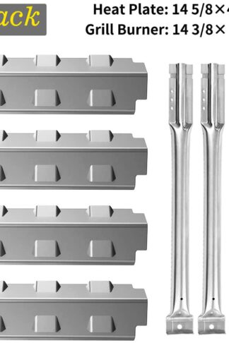 SHINESTAR Grill Replacement Parts for Charbroil Classic 463440109, 463230511, 463230514, 463230515, 463239915, Designer Series, Stainless Steel Heat Tent Shield Plates Flame Tamers+ Burner Tubes