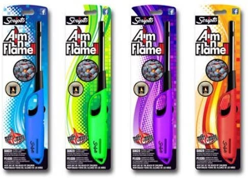 Scripto Aim 'N Flame Multi-Purpose Lighters, 4 Pack