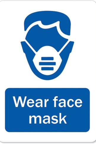 "SignMission Coronavirus (COVID-19) - Wear Face Mask | Vinyl Decal | Protect Your Business, Municipality, Home & Colleagues | Made in The USA, 5"" X 3.5"" Decal Set of 10 (OS-NS-D-35-25581-10PK) by SignMission"