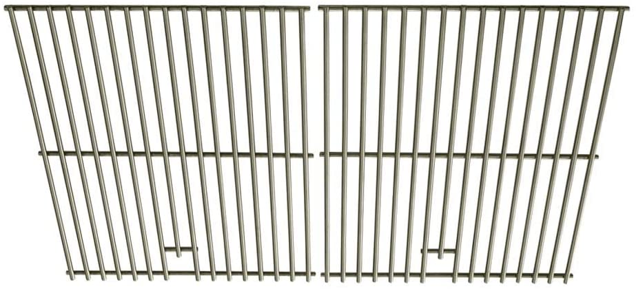 Stainless Cooking Grid for Kenmore 122.16119, 122.16129, Kmart, Nexgrill 720-0670 & Uniflame GBC091W, GBC940WIR, GBC956W1NG-C Gas Grill Models, Set of 2