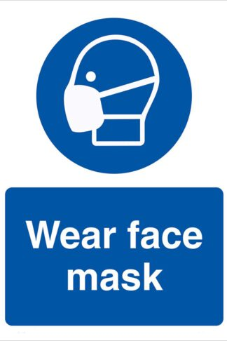Stop Coronavirus -Personal Protection Equipment Signs Wear Face Mask Safety Sign Prevent COVID-19 10x13 inch by Sinesal