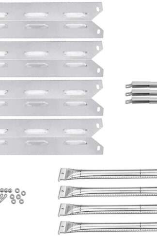 Uniflasy Grill Replacement Kit for Kenmore 146.34611410, 146.23678310, 146.10016510, 146.16197210, 146.16132110, 146.34461410, 146.16142210, 146.23679310, Grill Burner Tube, Heat Plate, Crossover