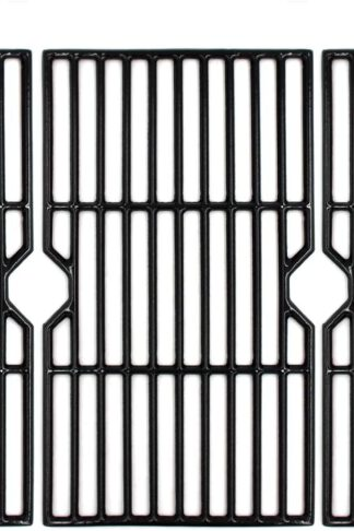 "VICOOL 16 7/8"" Polished Porcelain Cast Iron Grill Grate Cooking Grid Replacement for Charbroil 463436213, 463436214, 463436215, 463420508, 463420509, 463441312, 463441514 Gas Grills, 3-Pack, (HyG876C)"