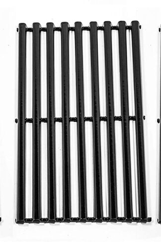 Zljoint Porcelain Steel Cooking Grid Replacement for Gas Grill Kenmore 146.16133110 and Gas Grill Models Kenmore 146.16132110, Set of 3