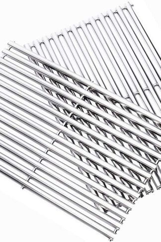 Zljoint Stainless Steel Cooking Grid Replacement Fit Brinkmann 810-9490-0, Grill Master, Nexgrill and Uniflame GBC091W, GBC940WIR Gas Grills and Others, Set of 2
