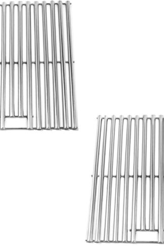 Zljoint Stainless Steel Cooking Grid Replacement for Kenmore D02M90225, Char-Broil 463446015, 466446015 and Others, Set of 2