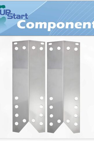 2-Pack BBQ Grill Heat Shield Plate Tent Replacement Parts for Kenmore 122.16435010 - Compatible Barbeque Stainless Steel Flame Tamer, Guard, Deflector, Flavorizer Bar, Vaporizer Bar 15 1/16""