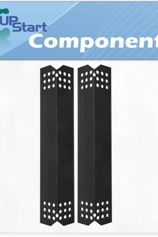 2-Pack BBQ Grill Heat Shield Plate Tent Replacement Parts for Nexgrill 720-0830A - Compatible Barbeque Porcelain Steel Flame Tamer, Guard, Deflector, Flavorizer Bar, Vaporizer Bar, Burner Cover