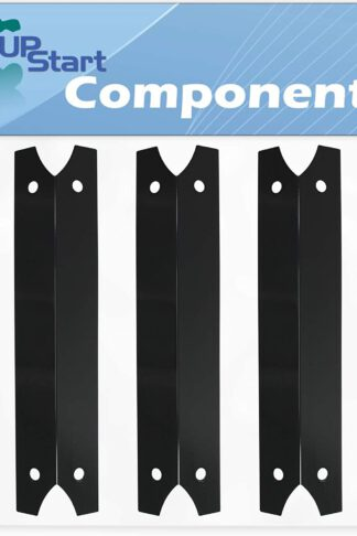 3-Pack BBQ Grill Heat Shield Plate Tent Replacement Parts for Brinkmann Pro Series 6345 (810-6345-1) - Compatible Barbeque Porcelain Steel Flame Tamer, Flavorizer Bar, Burner Cover 17 3/4""