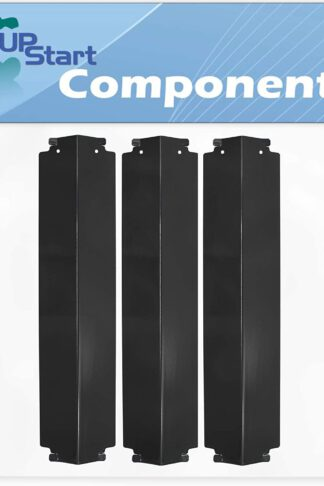 3-Pack BBQ Grill Heat Shield Plate Tent Replacement Parts for Charbroil 463246910 - Compatible Barbeque Porcelain Steel Flame Tamer, Guard, Deflector, Flavorizer Bar, Vaporizer Bar, Burner Cover 16""