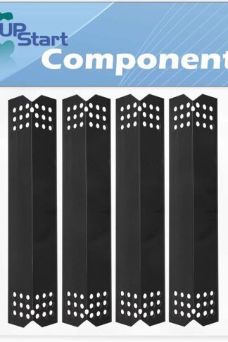 4-Pack BBQ Grill Heat Shield Plate Tent Replacement Parts for Bhg 720-0783H - Old - Compatible Barbeque Porcelain Steel Flame Tamer, Guard, Deflector, Flavorizer Bar, Vaporizer Bar, Burner Cover