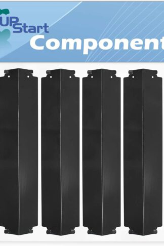 4-Pack BBQ Grill Heat Shield Plate Tent Replacement Parts for Thermos 461262407 - Compatible Barbeque Porcelain Steel Flame Tamer, Guard, Deflector, Flavorizer Bar, Vaporizer Bar, Burner Cover 16""