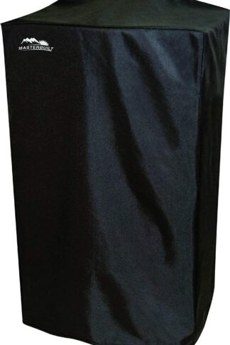 "40"" Heavy-Duty, Masterbuilt and Reinforced Polyester Smoker Cover, Black"