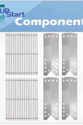 BBQ Grill Cooking Grates & Heat Shield Plate Tent Replacement Parts for Kenmore 122.16641901 - Compatible Barbeque Stainless Steel Grid & Flame Tamer, Guard, Deflector, Flavorizer Bar, Vaporizer Bar