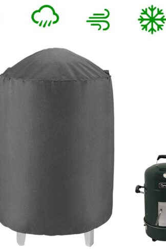 Dome Smoker Cover Heavy Duty Waterproof Barrel Cover, 30Dx36H, Bullet Smokers Cover,Vertical Water Smoker Cover, Kettle Grill Cover, Outdoor BBQ Cover, All Weather Protection for Weber, Char-Broil and More